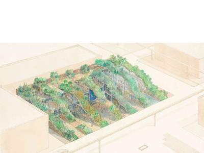 World Ecology Pavilion – Expo '92. 1990, Aquarell auf Papier, 38,10 x 60,96 cm