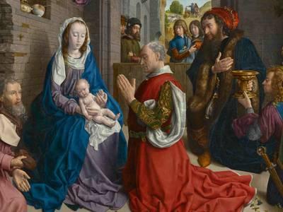 Hugo van der Goes, Monforte-Altar, Detail, um 1470