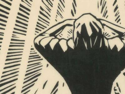 """Klaus Wrage, Blatt zu Purgatorio XV (""""Die Göttliche Komödie""""), 1923, Holzschnitt"""