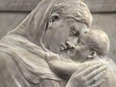"Donatello, Maria mit dem Kind (""Pazzi-Madonna""), Detail, ca. 1422, Marmor"
