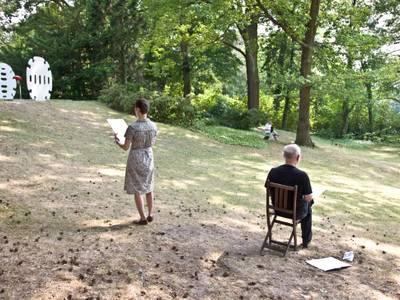 Zeichnen im Garten, Haus am Waldsee
