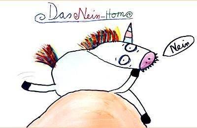 NEINhorn Zeichnung von Bela (8 Jahre)