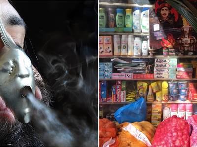 Links: Osías Yanov, Soplo de humo, 2019, Courtesy Osías Yanov; rechts: Courtesy Sinthujan Varatharajah