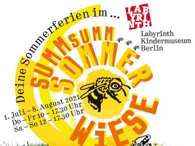 Summ Summ Sommerwiese - Ferienprogramm für kleine Naturforscher*innen – Visual des Sommerferienprogramms Summ Summ Sommerwiese im Labyrinth Kindermuseum Berlin
