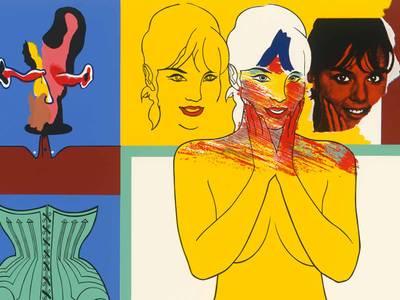 "Allen Jones: For the Lips (Pour les lèvres), Detail, 1966, Farbsiebdruck (Blatt aus: ""11 Pop Artists II"")"