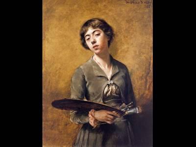 Sabine Lepsius, Selbstbildnis, 1885