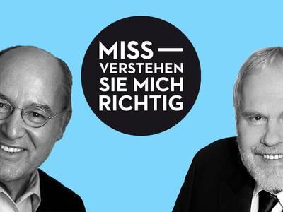 Missverstehen Sie mich richtig! – von links: Gregor Gysi, Gunther Emmerlich