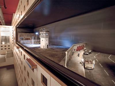 Modell der Berliner Mauer