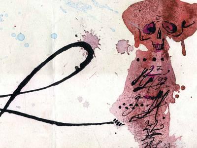 """Horst Janssen, """"Wenn ich nur einmal einen rechten Entschluß fassen könnte, gesund zu werden!! Valere aude!"""" Detail, (Lichtenberg), 7. März 1993, Aquarell und Tusche auf Papier, Sammlung Tete Böttger"""