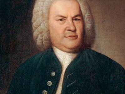 Johann Sebastian Bach 1746, mit Rätselkanon – Ölgemälde von Elias Gottlob Haußmann