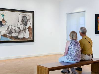 """Ausstellungsansicht: """"Picasso und seine Zeit"""" mit Werken von Pablo Picasso"""