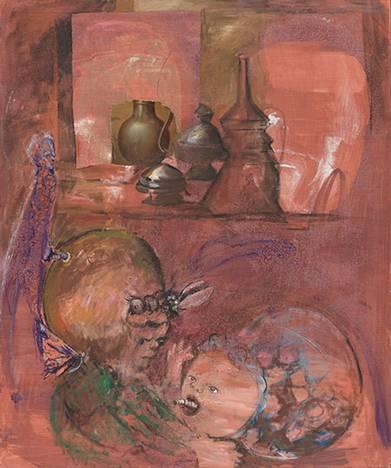 Amelie von Wulffen, Untitled, 2019, Oil on canvas – Amelie von Wulffen, Untitled, 2019, Oil on canvas, Courtesy the artist, and Galerie Barbara Weiss, Berlin, Galerie Meyer Kainer, Vienna, and Gio Marconi, Milan