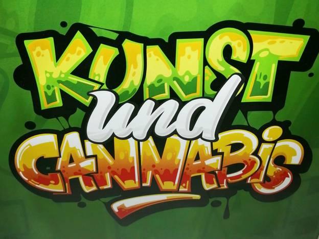 Kunst und Cannabis – Grafik für die Ausstellung Kunst und Cannabis im Hanf Museum Berlin