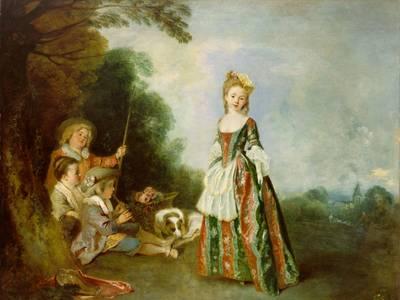 – Antoine Watteau, Iris oder Der Tanz, 1718-1721