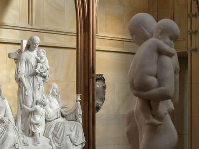 August Kiss (vollendet von Gustav Blaeser), Glaube, Liebe, Hoffnung, um 1865 (Ausführung1867 – 1869), Marmor