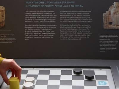 Mitmachstation zur Geschichte des Schachspiels zwischen Nordafrika und Europa
