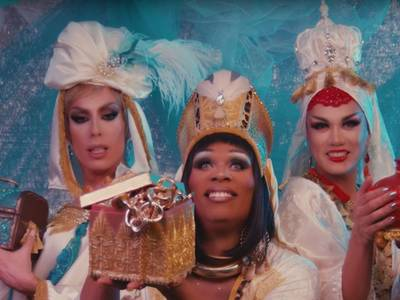 "Still aus Videoclip ""We Three Queens"" mit Manila Luzon, Peppermint & Alaska Thunderfuck, USA, 2018"