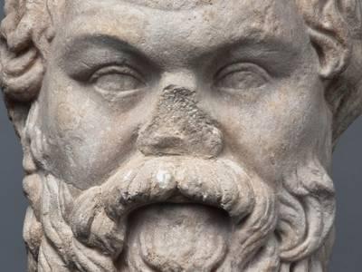 Bildnis des griechischen Philosophen Sokrates – Bildnis des griechischen Philosophen Sokrates © Staatliche Antikensammlungen und Glyptothek München / Foto: Renate Kühling