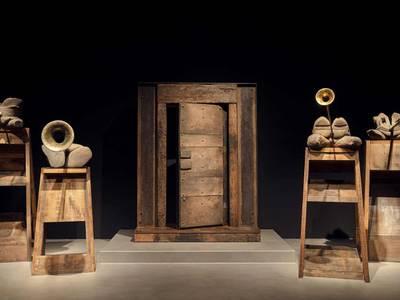 Anthony Caro, The Last Judgement Sculpture, Ausstellungsansicht Gemäldegalerie 2019, Sammlung Würth,