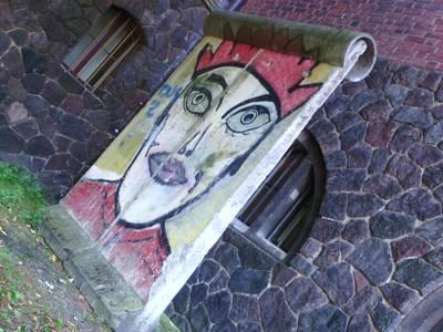 Berliner Mauer mit Original-Graffiti von Kiddy Citny im Märkischen Museum