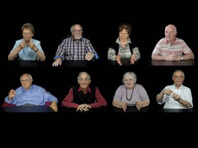 v.l.o.n.r.u. Ingrid Hannemann, Peter Werth, Hildegard Wenzel, Wolfgang Lenk, Stanislaw Karol Kubicki †, Georg Weise, Margot Sharma, Günter Warnecke – v.l.o.n.r.u. Ingrid Hannemann, Peter Werth, Hildegard Wenzel, Wolfgang Lenk, Stanislaw Karol Kubicki †, Georg Weise, Margot Sharma, Günter Warnecke © Stefan Krauss