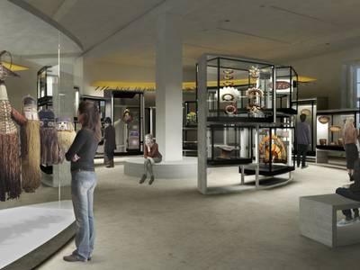 Visualisierung der zukünftigen Ausstellungsgestaltung des Bereichs Amazonien, Ethnologisches Museum