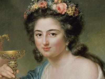 Anna Dorothea Therbusch, Porträt der Henriette Herz, Detail, 1778