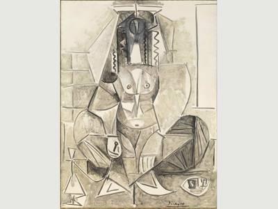 Pablo Picasso, Die Frauen von Algier (Version L), Detail, 1955, Öl auf Leinwand