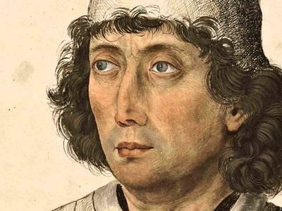 Meister des Mornauer Bildnisses, Männliches Bildnis, Süddeutsch (Bayern), um 1470/80, Detail