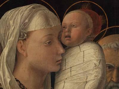 Andrea Mantegna, Darbringung im Tempel, Detail, ca. 1454, Berlin, Gemäldegalerie