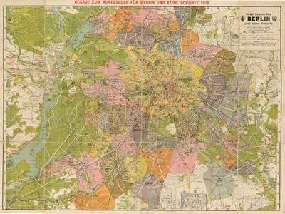 Pharus-Verlag (Herausgeber): Großer Verkehrs-Plan Berlin und seine Vororte, Berlin, 1919