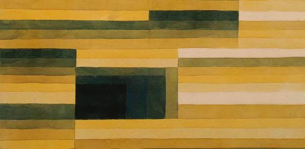 Paul Klee (18.12.1879 - 29.6.1940), Felsenkammer, Aquarell und Bleistift auf Papier auf Karton, 1929